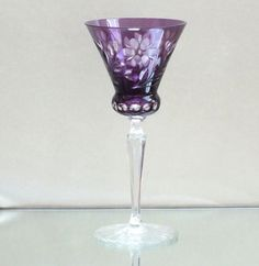 Art Deco Josephinenhütte Römer Überfangglas Kristall, Dekorglas, Antikglas, lila
