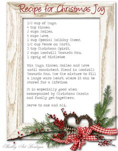 Recipe for Christmas Joy