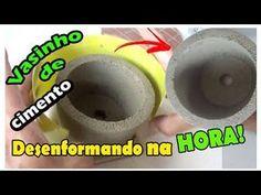 DIY COMO FAZER UM VASO DE CIMENTO CASEIRO #1 | Nanny Ribeiro - YouTube