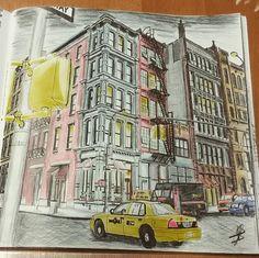 Coloring Books Adult Colouring Pencil Art Colored Pencils Enchanted Buildings Vintage