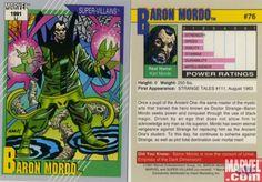baron mordo marvel | Marvel Universe Trading Cards Series 2 1991 (part 2) | Urbandud