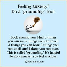 Good tip for people with anxiety! -Ta
