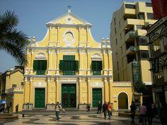 #StDominics Church in #Macau #China! #Architecture #Yellow #travel