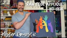 Stonewall Riots, Black Trans, Raw Edge Applique, Weaving Projects, Hand Sewing, Sewing Crafts, Pride, Hands, Knitting Projects