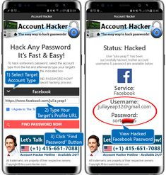 Hack Facebook passwords directly on your Android or iOS device with our free and easy to use Facebook hacking app. Free download now! Android Phone Hacks, Cell Phone Hacks, Smartphone Hacks, Iphone Hacks, Hacking Apps For Iphone, Android Art, Android Codes, Computer Password, Hack Password