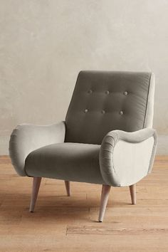 Velvet Losange Armchair, Wilcox - #anthrofave