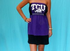 TCU  Game Day Dress  Tailgate Apparel by LoveMyGameDress on Etsy, $40.00