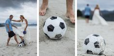 Coromandel Wedding Photography Introducing an element of fun with a soccer ball.- Pegasus Photography