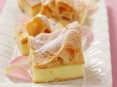 Blätterteigkuchen mit Vanillepudding auf polnische Art - smarter - Zeit: 25 Min. | eatsmarter.de