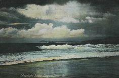 An early seaplane landing on the ocean at Newport Beach Laguna Beach, Newport Beach, Post Card, Waves, Ocean, History, Digital, Painting, Outdoor