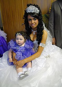 Danielle is the youngest bride her priest has ever married.