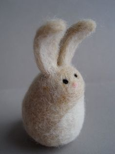 Needle felted bunny....great Easter gift for the kiddos!