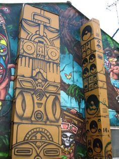 Modern totem poles by intranation, via Flickr www.notcot.com