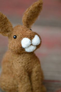 Needle Felted Bunny Rabbit by Teresa Perleberg