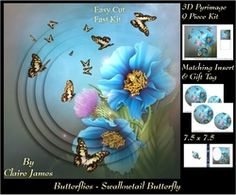 Butterflies   Swallowtail   Pyrimage Pyramid   Insert   Tag on Craftsuprint - View Now!