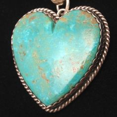 Turquoise and Sterling Silver Heart by Maite Rovira