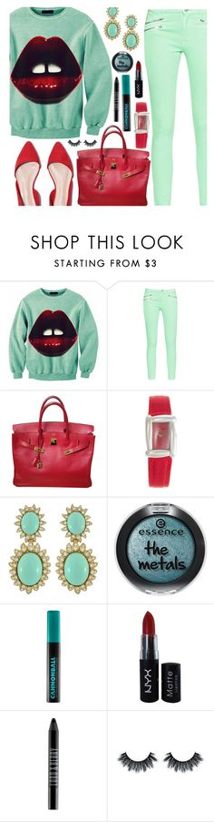 """""""Aloha From Deer Sweater"""" by deborah-calton ❤ liked on Polyvore featuring Aloha From Deer, French Connection, Hermès, Henry Dunay, Ciner, Urban Decay, NYX and Lord & Berry"""