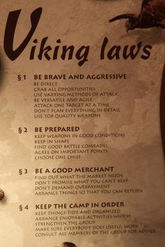 Viking rules from museum in Norway