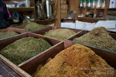 Zatar - a complex spice mixture sold at the markets in Jordan and put on bread with lebne (cheese) for breakfast.