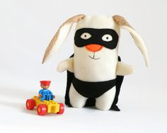 Super Hero Plush Toy, Rob Stuffed Animal, Super Hero, Plushy Doll, Bunny Toy, Rabbit Bunny Stuffed Animal, Stuffed Toy, Baby Christmas Gift  Clark the superhero bunny is a brave bunny that loves to save other bunnies. It has a cape and it can fly! Clark can be the first bunny plush toy for your kid or a one of a kind gift for a birthday, Christmas, baby shower... Each doll is handmade and carefully hand sewn with love and special attention to detail, making it long lasting and durable. As a…