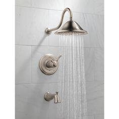 Shop Delta Cassidy Thermostatic Stainless 1-Handle Tub and Shower with Rain Showerhead at Lowes.com