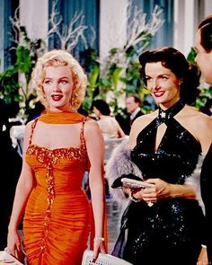 """3,423 Likes, 18 Comments - @from50swithlove on Instagram: """"Marilyn Monroe and Jane Russell, Gentlemen Prefer Blondes (1953)."""""""