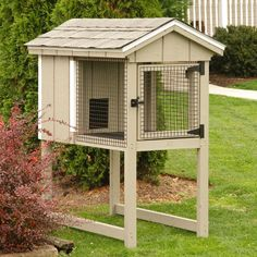 Amish Rabbit Hutch - Beige  I want to get brylee a bunny
