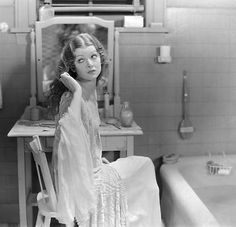 Myrna Loy at vanity