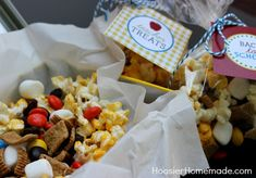 S'mores Snack Mix with Printable Back to School Tags