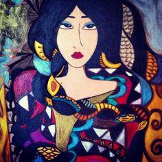 Pintura Mulher Étnica