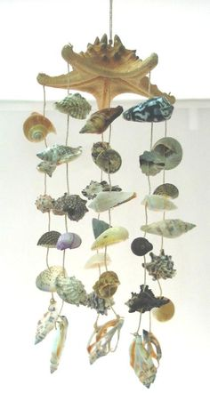 shell wind chime - what a great beach house accessory