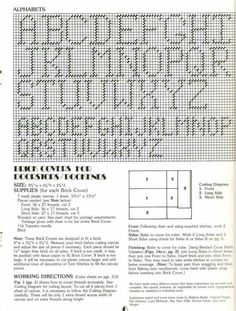 Patterns for brick covers, door stops, , book ends Plastic Canvas Letters, Plastic Canvas Christmas, Plastic Canvas Crafts, Letter Patterns, Canvas Patterns, Alphabet Charts, Cross Stitch Letters, Bobble Stitch, Daily Thoughts