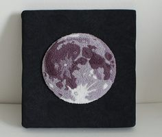 Moon punch-needle project by PlanetJune!