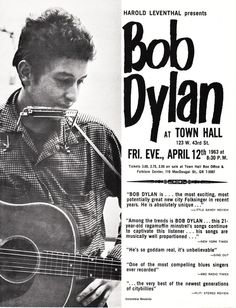 Dylan's First Concert Poster