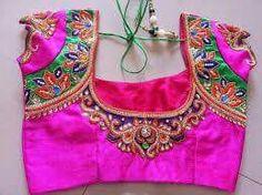 Bridal Inspirations.... To order, pls whatsapp on  +91 94929 91857 #Designerblouses #maggamworks #Blouses #Bridalwear #wedding #workblouses #southindianwedding
