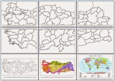 Turkiye Dilsiz Harita Seti Sosbil