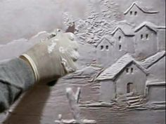 Wall art Sculpture - Houses scene and Trees - YouTube