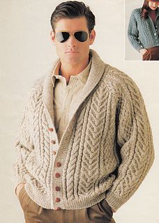# 2 Lady/Man Jacket by Patons Australia ~ I have this pinned further down but re-pinned to compare with the Hanne Falkenberg kit/pattern because this one is out of print and one would really luck out to find it ~ anyway, prefer the fit of the HF design ~ the Patons an older design