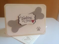 """sympathy- pet- Sassy Salutations; inside- Love and Sympathy; envelope- forever in my heart (very vanilla base  4x5-1/4""""; crumb cake 1-1/8"""" with heart punch; riding hood red; used punched out heart to sponge in a paw in side card)- stampin up card"""