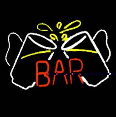 Bar Glasses Neon Sign