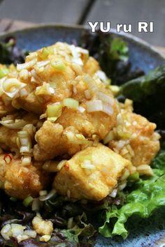 簡単!おすすめ節約料理。ちぎり豆腐の唐揚げねぎソース|レシピブログ