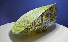 Amanda Simmons — Listening on all frequencies - large kiln formed. Cast Art, Kiln Formed Glass, Glass Vessel, Fused Glass Art, Glass Design, Amanda, Decorative Bowls, Chicago, It Cast