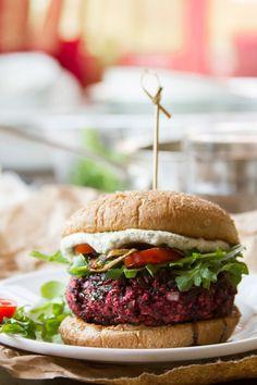 Balsamic Beet Burgers - Connoisseurus Veg