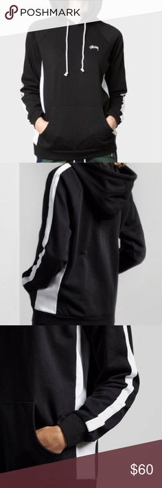 🌟STUSSY Hoodie🌟 Black with white accents Stussy hoodie, BRAND NEW (NWT)!  💛Offers welcomed (please no lowballing)  ❌NO Trades ❌NO Holds ❌NO PayPal Stussy Sweaters