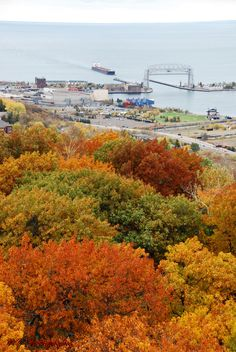 View of Lake Superior from Enger Tower in Duluth, MN