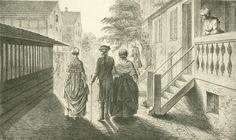 Chodowiecki, Der Besuch beim Pastor Fabritius (Danziger Skizzen, 1773).