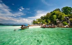 Tarutao National Marine Park (Thai: อุทยานแห่งชาติทางทะเลตะรุเตา) consists of 51 islands located in the Andaman Sea, off the coast of Satun Province of Southern Thailand. The Tarutao National Marine Park consists of two island groups: Tarutao and Adang-Rawi, which are scattered from 20 to 70 km distance from the southwestern most point of mainland Thailand. The park covers an area of 1,490 square kms. The southernmost end of the Park lies on the border with Malaysia.
