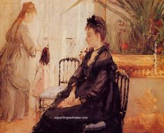 Berthe Morisot Interior, 1872, painting Authorized official website