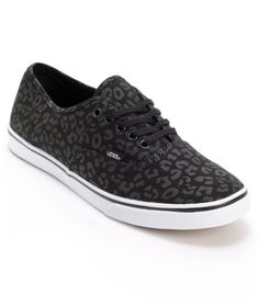 Vans Girls Authentic Lo Pro Black Leopard Print Shoe from Zumiez. Saved to Shoes! Unique Shoes, Cute Shoes, Me Too Shoes, Vans Girls, Girls Shoes, Dream Shoes, Crazy Shoes, Leopard Print Shoes, Leopard Vans