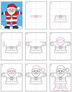 How to Draw Santa Claus - Art Project for Kids